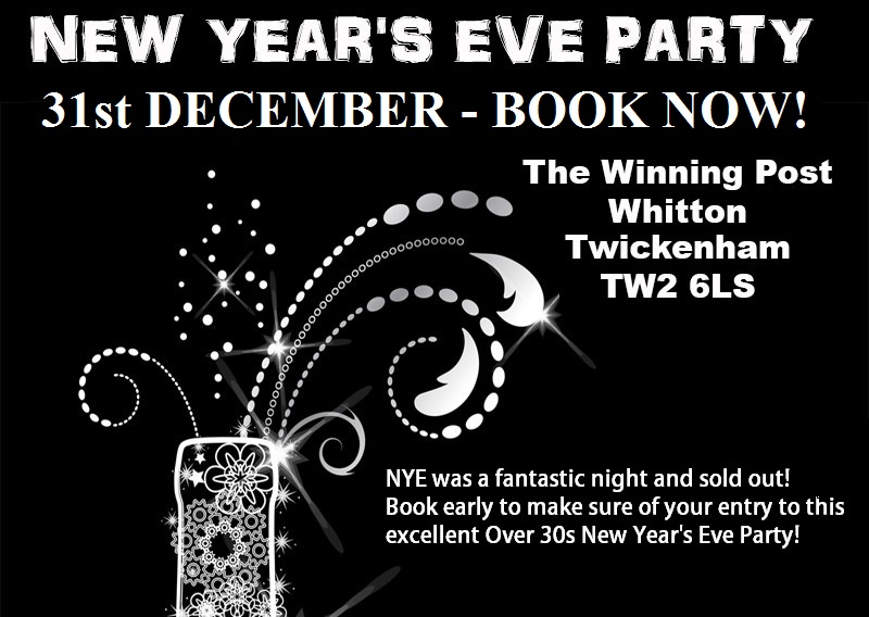 Mingles-new-years-eve-party-for-Over 30s at The Winning Post Twickenham