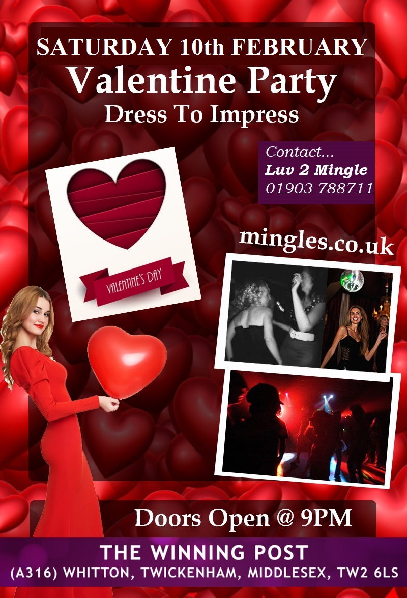 Valentines Party for Over 30s at The Winning Post Twickenham