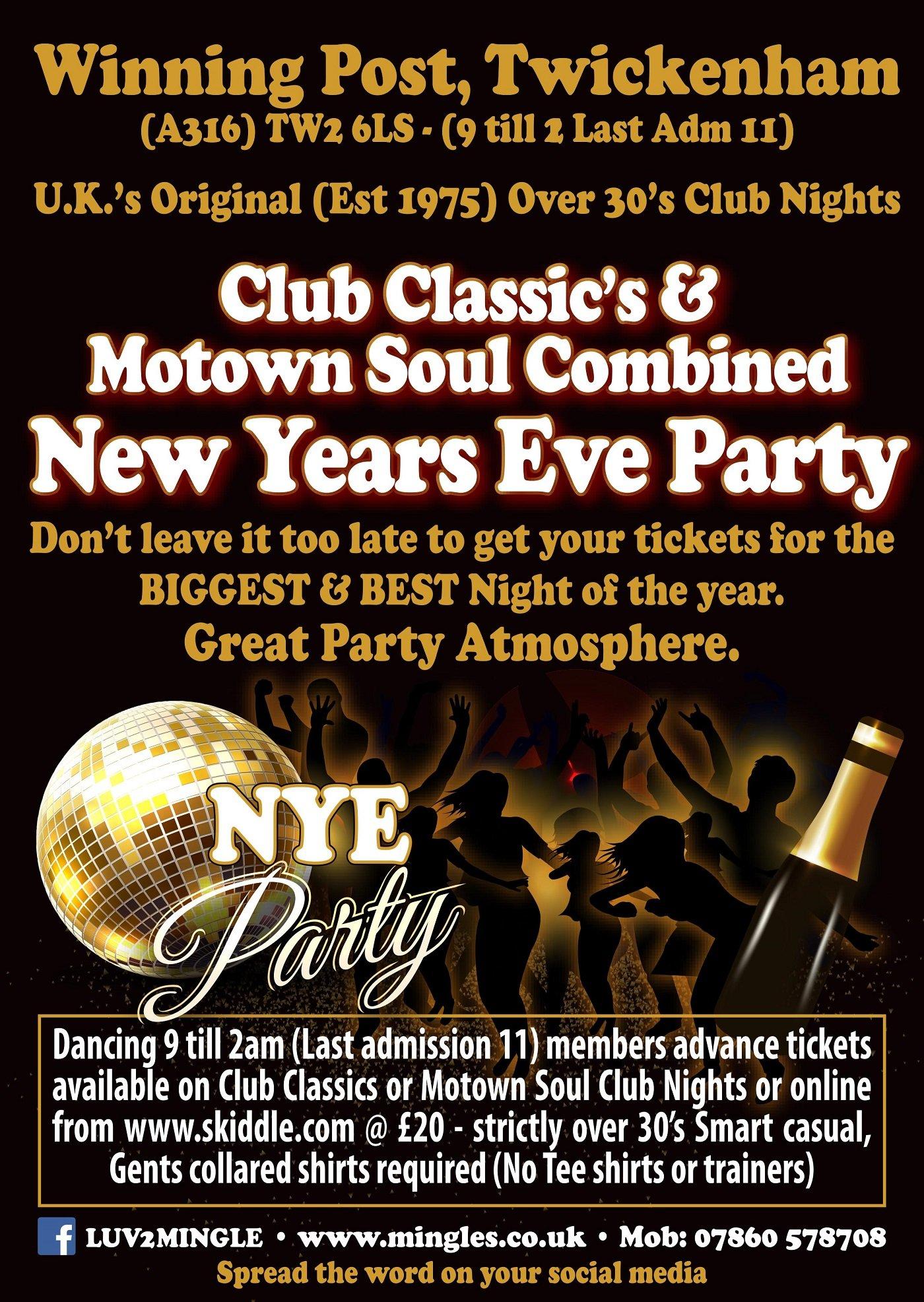 New years eve party 2021 at The Winning Post Twickenham